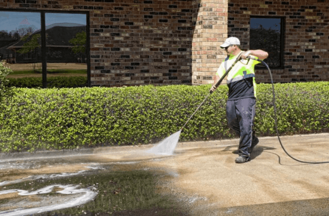 commercial concrete cleaning in houston